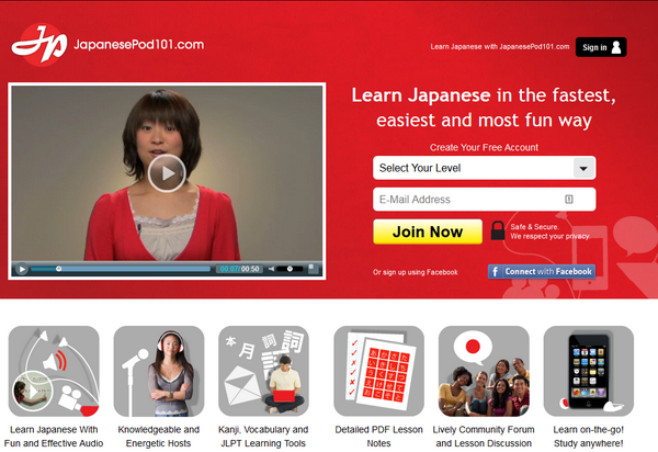 Japanesepod101 is the perfect way to learn Japanese online.