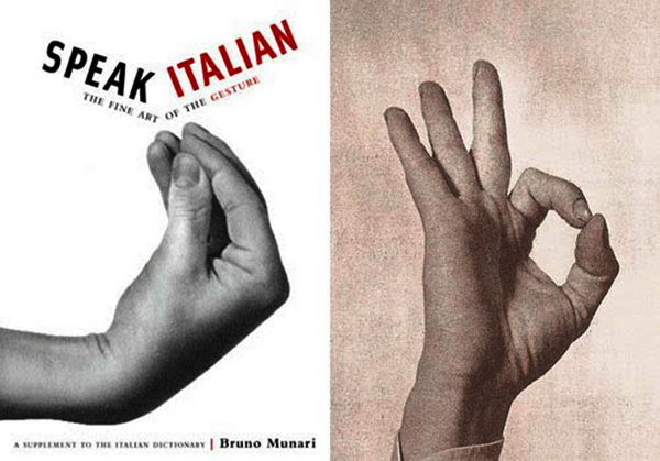 Hand gesture used by Italians when speaking