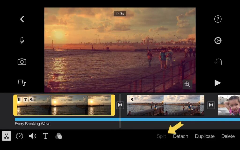 iMovie tutorial clip prepared for editing with iMovie