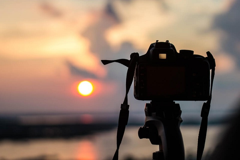 photo of sunset with digital camera