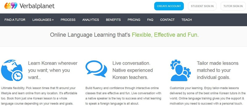 verbalplanet's learn korean online course