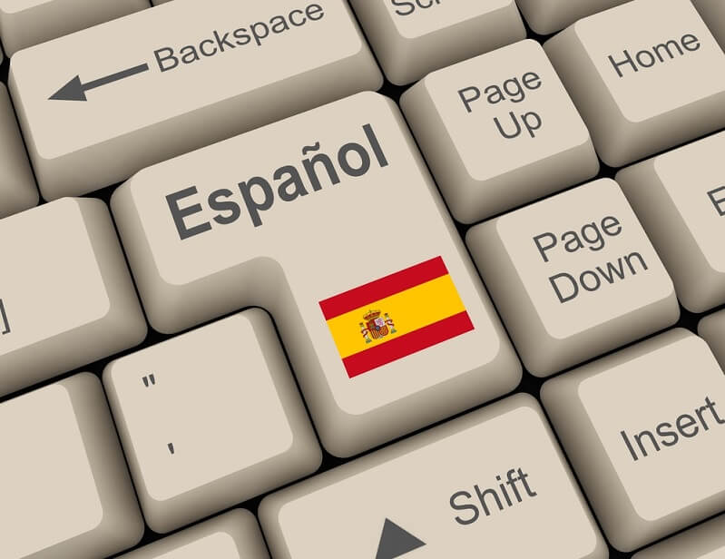Spanish enter button