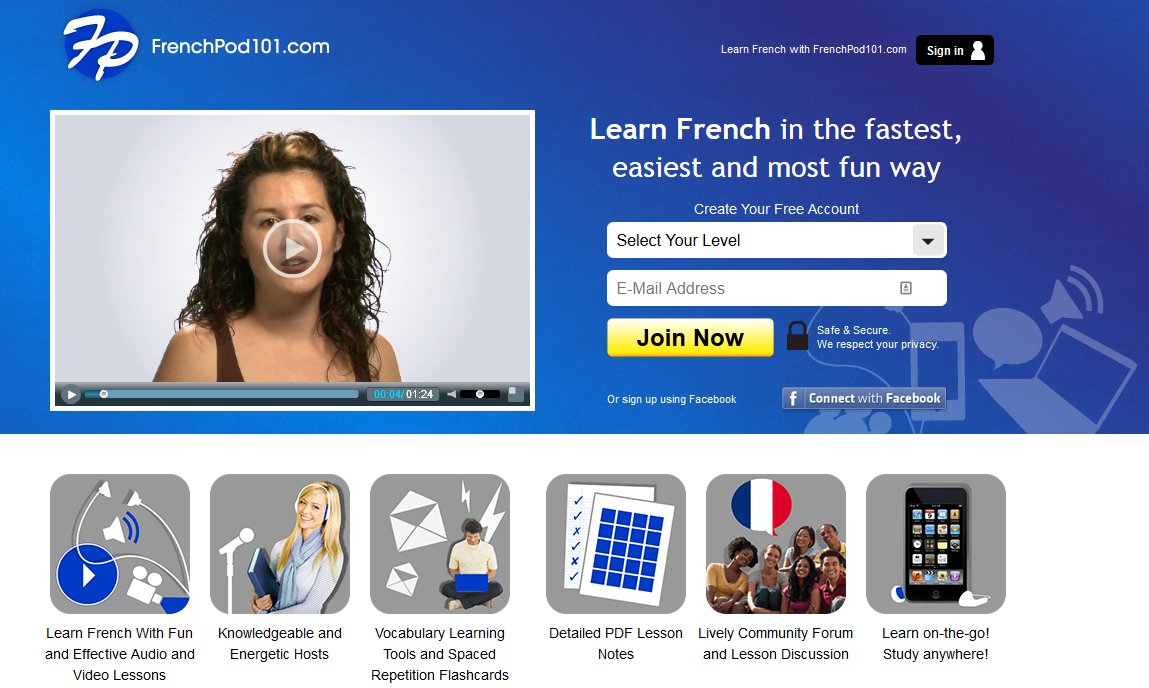 Take a look at the Frenchport101 portal