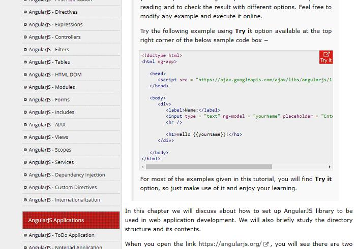 tutorialspoint.com screenshot