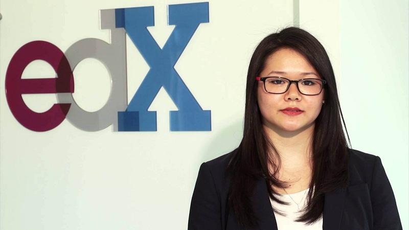edX logo and teacher