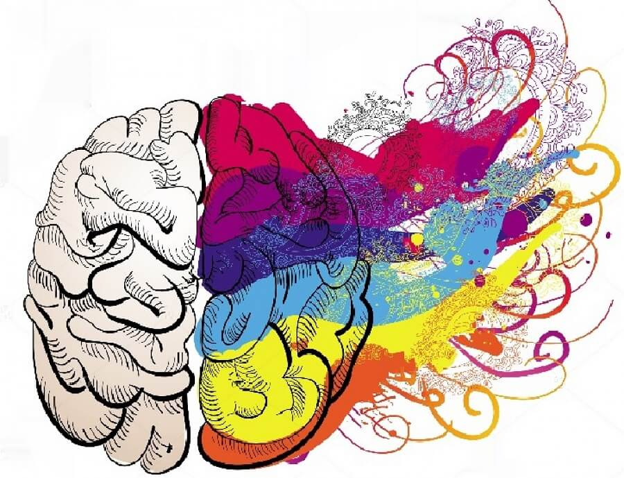 online psychology courses colorful brain