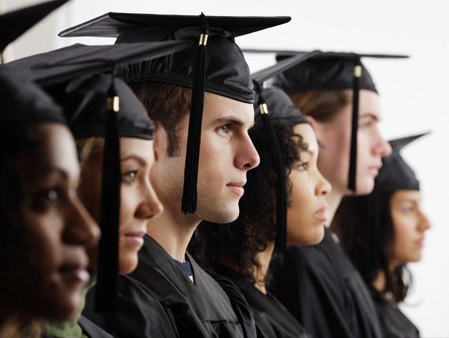 graduates in black robes
