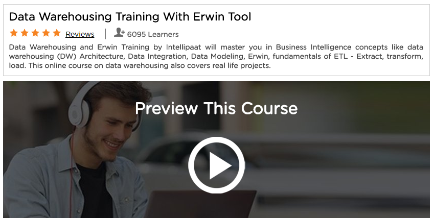 Data Warehousing 6 Training With Erwin Tool