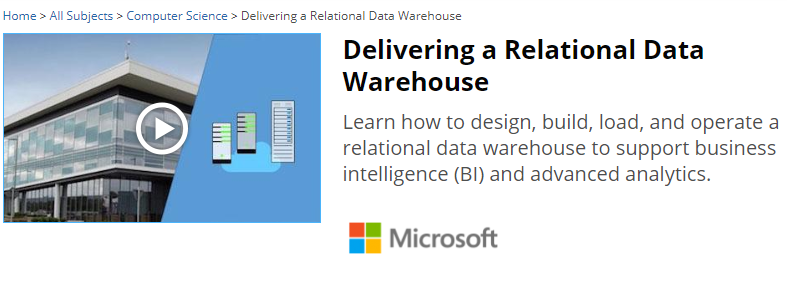 data warehousing. 4 Delivering a Relational Data Warehouse