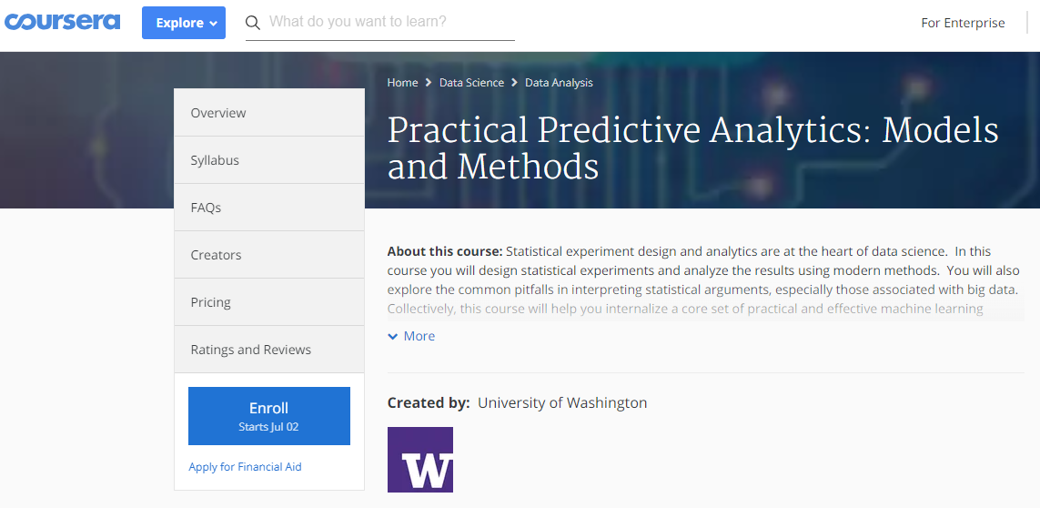 Top 5 Online Courses for Predictive Modeling