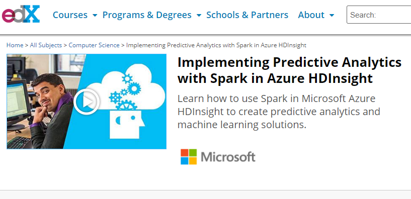 predictive modeling. 2 edx with spark