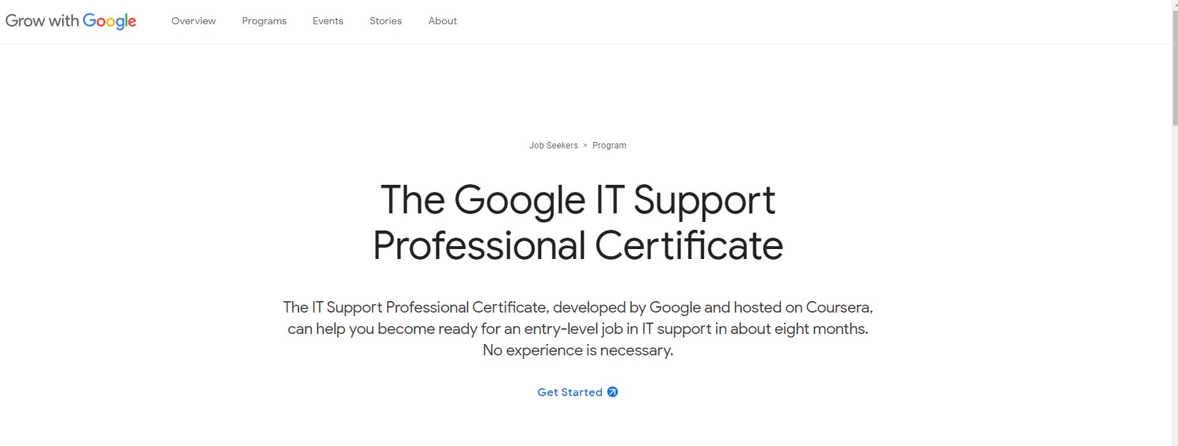 Google IT Support Professional Certificate  it support specialist