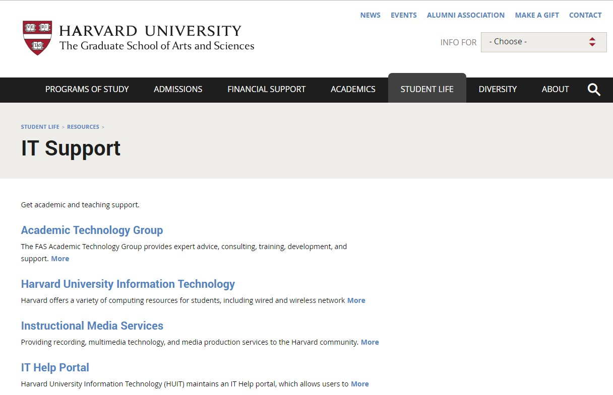 Harvard it support specialist