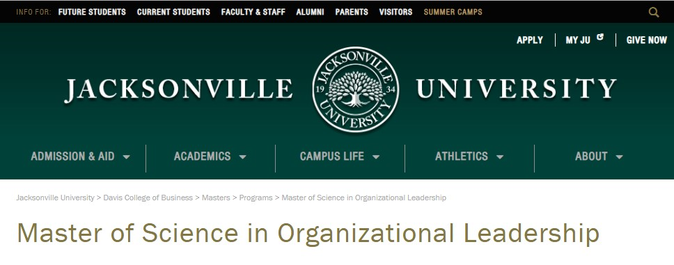 Jacksonville University Organizational Leadership