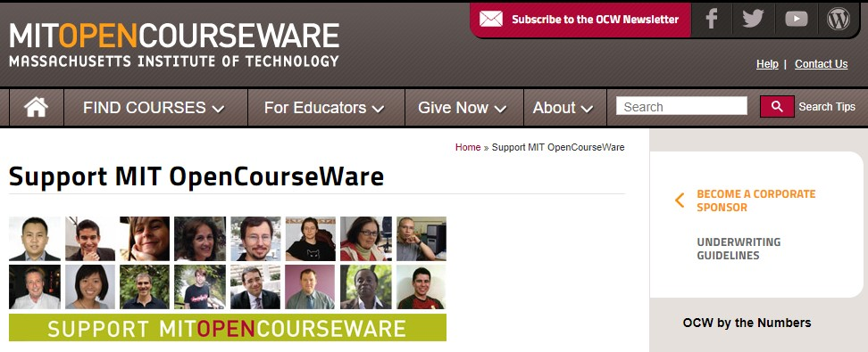 MIT ​OpenCourseWare it support specialist