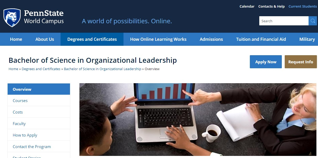 Pennsylvania State University Organizational Leadership