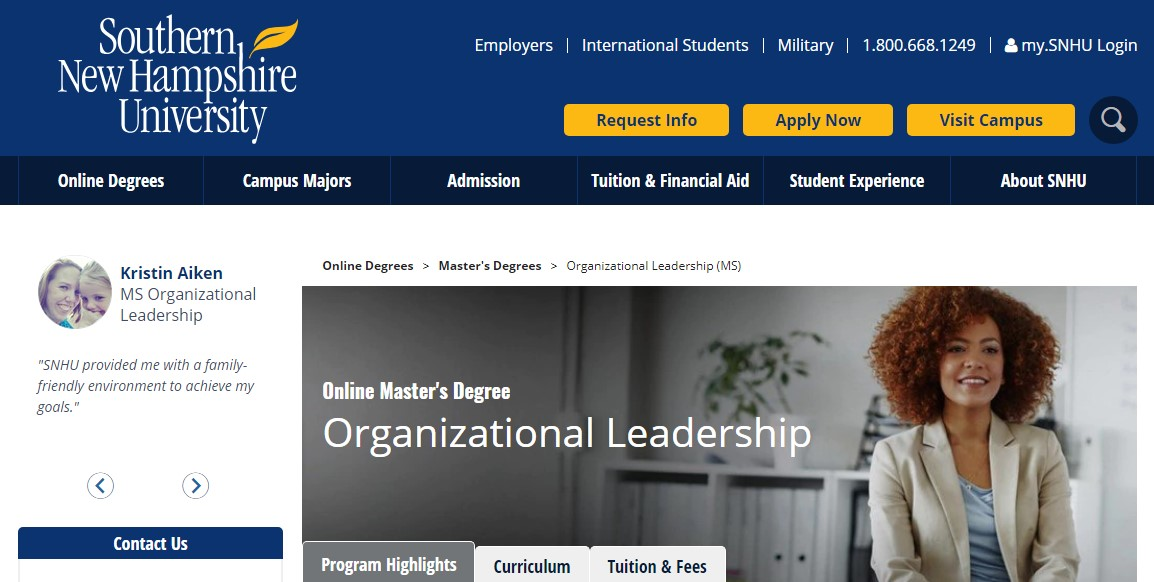 Southern New Hampshire University Organizational Leadership