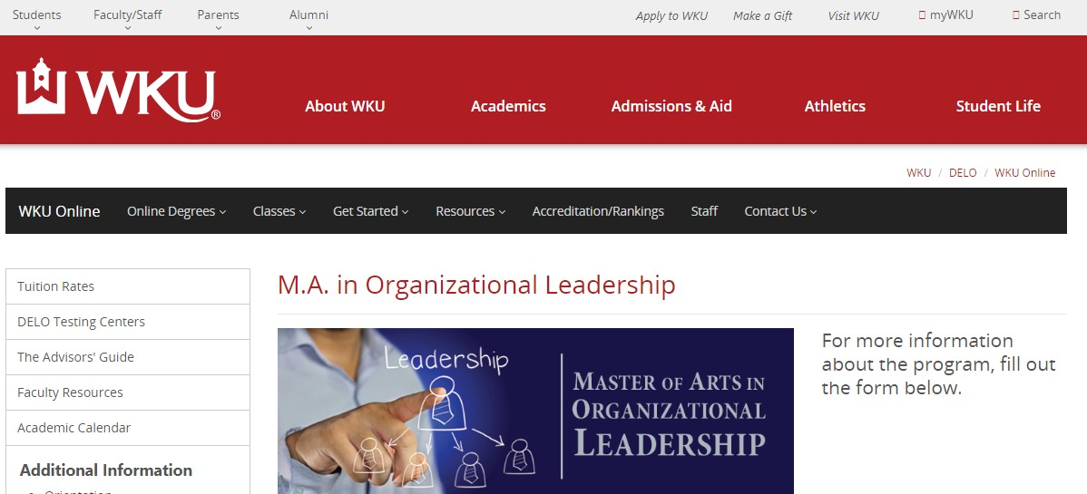 Western Kentucky University Organizational Leadership