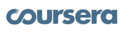 Coursera logo in blue color