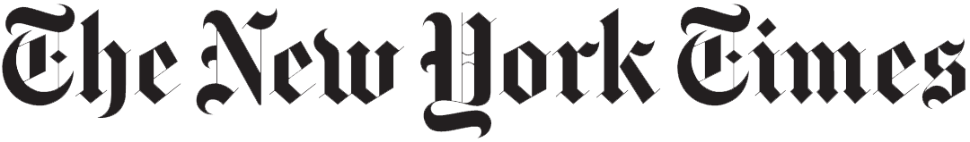 The New York Times logo black and white